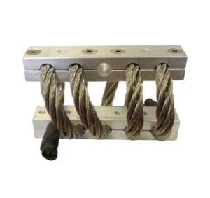 Wire rope mounts.